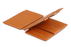 Garzini RFID Leather Magic Wallet Plus Nappa - Cognac - 3