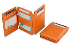 Garzini RFID Leather Magic Wallet Plus Nappa - Cognac - 5