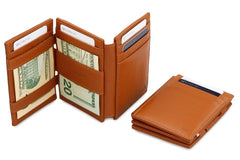 Garzini RFID Leather Magic Wallet Plus Nappa - Cognac - 6