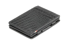 Garzini RFID Leather Magic Wallet Plus Croco - Black - 1