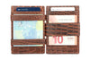 Garzini RFID Leather Magic Wallet Plus Croco-Brown