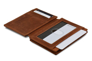 Garzini RFID Leather Magic Wallet Plus Vintage-Brown