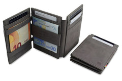 Garzini RFID Leather Magic Wallet Plus - Grey
