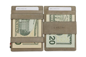 Garzini RFID Leather Magic Wallet Plus Vintage-Grey