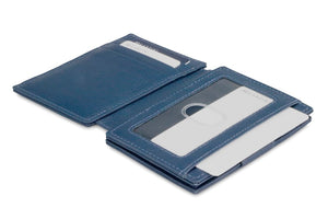 Garzini RFID Leather Magic Wallet Plus Nappa-Blue