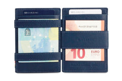 Garzini RFID Leather Magic Wallet Plus Nappa - Blue - 6