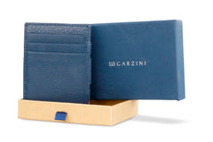 Garzini RFID Leather Magic Wallet Plus Nappa - Blue - 7