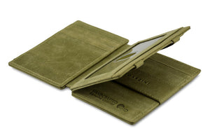 Garzini RFID Leather Magic Wallet Plus Vintage-Green