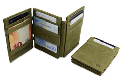 Garzini RFID Leather Magic Wallet Plus - Green