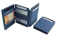 Garzini RFID Leather Magic Wallet Plus - Blue