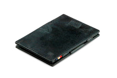 Garzini RFID Leather Magic Wallet Card Sleeves Brushed - Black - 1