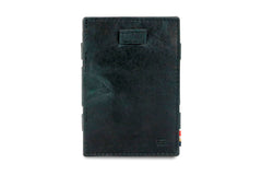 Garzini RFID Leather Magic Wallet Card Sleeves Brushed - Black - 2