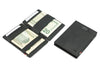 Garzini RFID Leather Magic Wallet Card Sleeves Brushed-Black