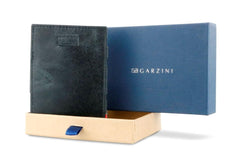 Garzini RFID Leather Magic Wallet Card Sleeves Brushed - Black - 8