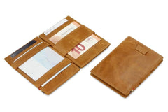 Garzini RFID Leather Magic Wallet Card Sleeves Brushed - Cognac - 5