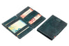 Garzini RFID Leather Magic Wallet Card Sleeves Vintage-Black