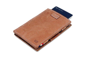 Garzini RFID Leather Magic Wallet Card Sleeves Vintage-Cognac