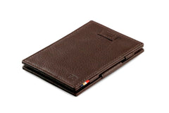 Garzini RFID Leather Magic Wallet Card Sleeves Nappa - Brown - 1