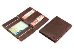 Garzini RFID Leather Magic Wallet Card Sleeves Nappa - Brown - 5