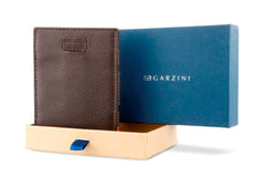 Garzini RFID Leather Magic Wallet Card Sleeves Nappa - Brown - 8