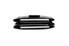 Garzini RFID Leather Magic Wallet Card Sleeves Croco - Black - 8