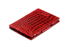 Garzini RFID Leather Magic Wallet Card Sleeves Croco - Red - 1