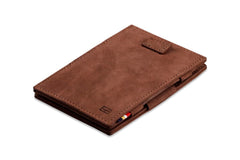 Garzini RFID Leather Magic Wallet Card Sleeves Vintage - Brown - 1