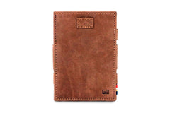 Garzini RFID Leather Magic Wallet Card Sleeves Vintage - Brown - 2