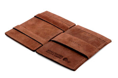 Garzini RFID Leather Magic Wallet Card Sleeves Vintage - Brown - 3