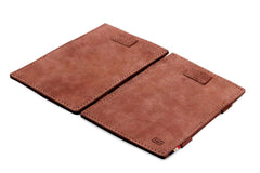 Garzini RFID Leather Magic Wallet Card Sleeves Vintage - Brown - 4