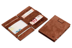 Garzini RFID Leather Magic Wallet Card Sleeves Vintage - Brown - 5