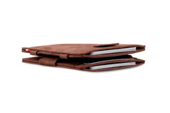 Garzini RFID Leather Magic Wallet Card Sleeves Vintage - Brown - 7