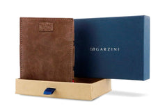 Garzini RFID Leather Magic Wallet Card Sleeves Vintage - Brown - 9