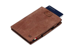 Garzini RFID Leather Magic Wallet Card Sleeves Vintage - Brown - 8