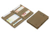 Garzini RFID Leather Magic Wallet Card Sleeves Vintage-Grey