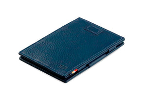 Garzini RFID Leather Magic Wallet Card Sleeves Nappa-Blue