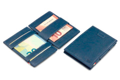 Garzini RFID Leather Magic Wallet Card Sleeves Nappa - Blue - 5