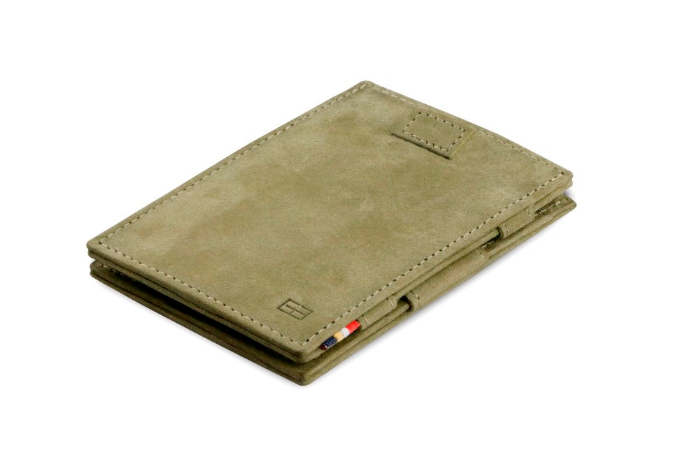 Garzini RFID Leather Magic Wallet Card Sleeves Vintage-Green