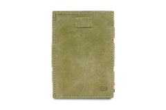 Garzini RFID Leather Magic Wallet Card Sleeves Vintage - Green - 2