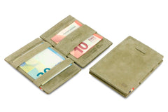 Garzini RFID Leather Magic Wallet Card Sleeves Vintage - Green - 5