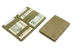 Garzini RFID Leather Magic Wallet Card Sleeves Vintage - Green - 6