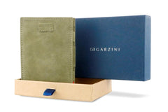 Garzini RFID Leather Magic Wallet Card Sleeves Vintage - Green - 9