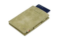 Garzini RFID Leather Magic Wallet Card Sleeves Vintage - Green - 8