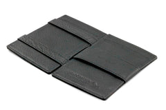 Garzini RFID Leather Magic Wallet Card Sleeves Nappa - Black - 3