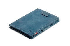 Garzini RFID Leather Magic Wallet Card Sleeves Vintage - Blue - 1