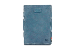 Garzini RFID Leather Magic Wallet Card Sleeves Vintage - Blue - 2