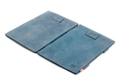 Garzini RFID Leather Magic Wallet Card Sleeves Vintage - Blue - 4
