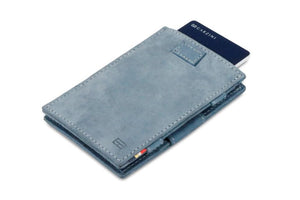 Garzini RFID Leather Magic Wallet Card Sleeves Vintage-Blue