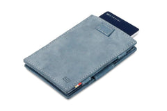 Garzini RFID Leather Magic Wallet Card Sleeves Vintage - Blue - 7