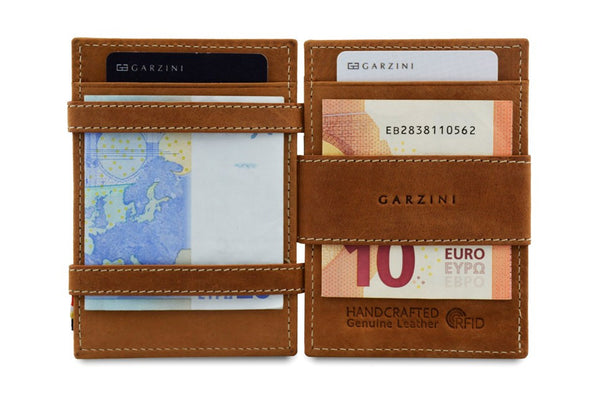 Garzini RFID Leather Magic Wallet ID Window